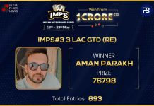 Aman Parakh claims the highest GTD on Day 1 of IMPS