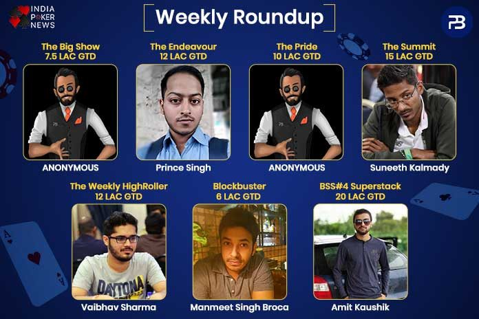 Prime Time Tournaments Weekly Round ups