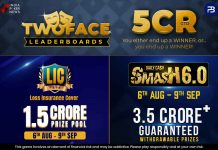 PokerBaazi's Two Face Leaderboards Worth INR 5 Crores!