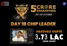 Harshad Barve Chip Leads The EndBoss Day 1B
